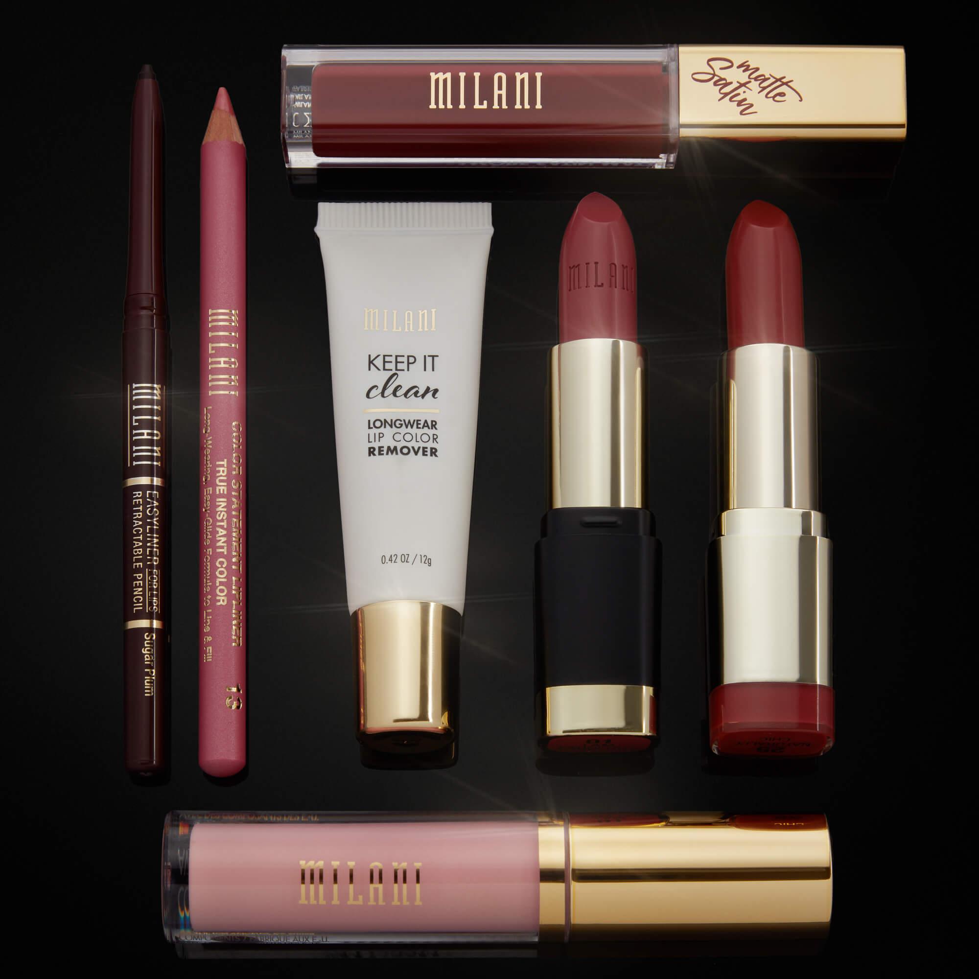 maquillaje milani labios